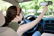 Teen Girl Driving
